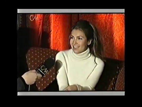 Thalía video Visita a la Argentina - Entrevista CM 2000