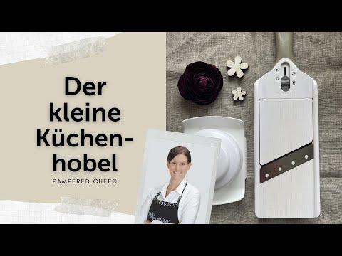 Kleiner Küchenhobel - Pampered Chef -  Zauberstein - Kürbis-Flammkuchen