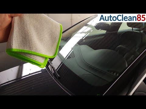 Windschutzscheibe von innen streifenfrei reinigen / Autoscheiben richtig reinigen