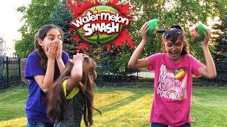 WATERMELON SMASH CHALLENGE Super Messy Edition!