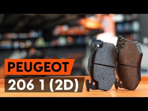 Wie PEUGEOT 206 1 (2D) Bremsbeläge hinten / Bremsklötze hinten wechseln [AUTODOC TUTORIAL]