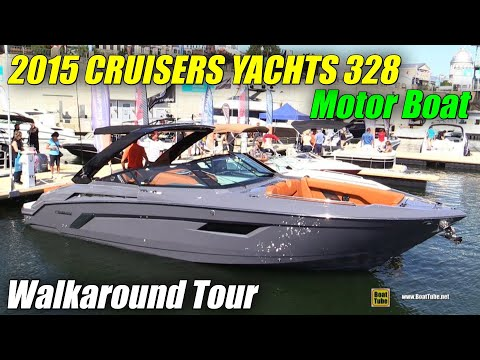 2015 Cruisers Yachts 328 South Beach Special Edition Motor Boat – Walkaround – 2015 MTL Boat Show