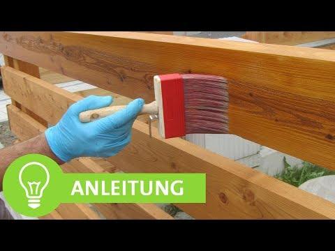 Einfache Anleitung zum Zaun Streichen: Holzzaun mit Lasur streichen