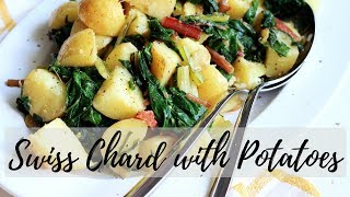 CROATIA INSPIRED SWISS CHARD WITH POTATOES RECIPE | INTHEKITCHENWITHELISA