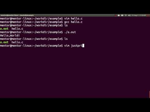 comment ouvrir gcc sur ubuntu