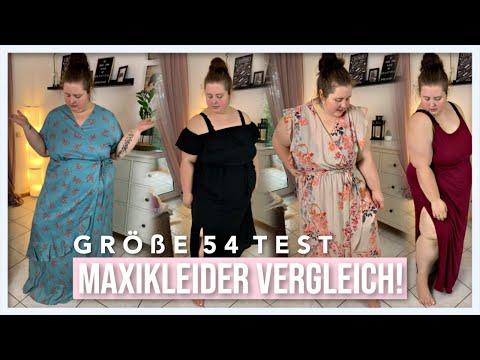 MAXIKLEIDER GRÖßE 54 VERGLEICH! | Ich teste Kleider für Plussize Frauen | Vanessa Nicole