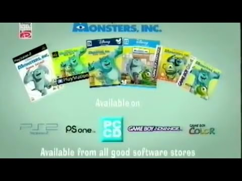Monsters Inc. The Video Game UK 2002 Promo