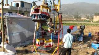 Human-powered ferris wheel