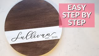 Easy Personalized lazy susan turntable Tutorial