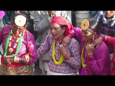 Deuda at Pyusa, Humla, on the occasion of Anantya खतरा देउडा अनन्ते पुर्णिमामा
