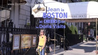 BOSTON, USA. The original CHEERS bar, Jean visits for Doris Visits