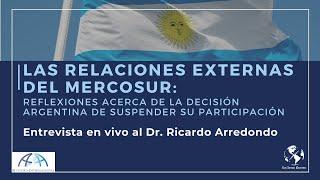 Argentina y la suspensión de su participación en MERCOSUR