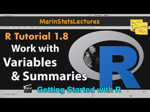 Working with Variables and Data in R (R Tutorial 1.7)