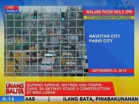 [GMA]  UB: Quirino Avenue, matindi ang trapik dahil sa Skyway Stage 3 construction at mga lubak