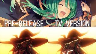 Kyouno Natsumi  - (Date A Live) - Shido meets Natsumi - Date A Live 3 Pre-Release/TV Ver. Comparison