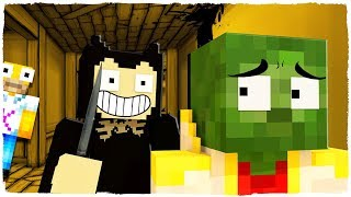 ¡BENDY NOS PERSIGUE POR LA FÁBRICA DE TINTA! BENDY AND THE INK MACHINE EN MINECRAFT