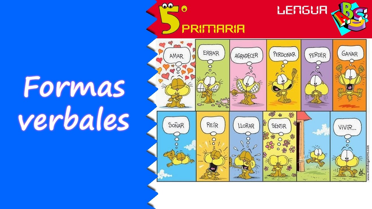 Formas verbales. Lengua, 5º Primaria. Tema 9