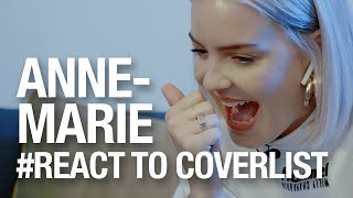 자기 노래 커버 들은 앤 마리(Anne Marie)의 반응 By 커버리스트 | Reaction Video
