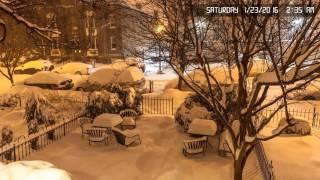 Snowzilla Time-Lapse