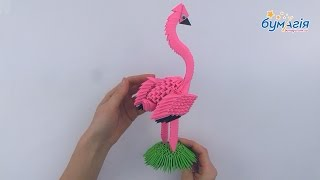 """Набор для творчества ЗD оригами """"Фламинго"""" 406 модулей от компании Интернет-магазин """"Радуга"""" - школьные рюкзаки, канцтовары, творчество - видео"""