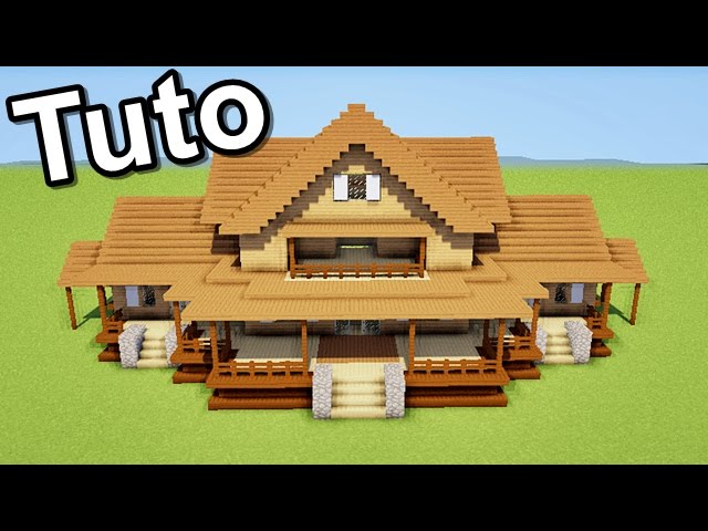 minecraft tuto comment faire une maison en bois. Black Bedroom Furniture Sets. Home Design Ideas