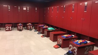 FC Barcelona - Athletic Club (Copa del Rey): Dressing room at Camp Nou