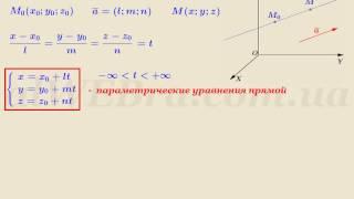 """Видеоурок """"Параметрические уравнения прямой"""""""
