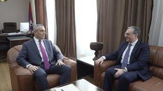 Встреча Министра иностранных дел Республики Армения Зограба Мнацаканяна с Министром иностранных дел Арцаха Масисом Маиляном