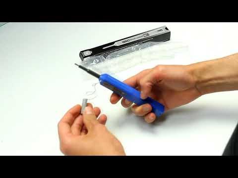 Video: US Conec IBC Brand 9392 one-click fibre optic connector cleaner