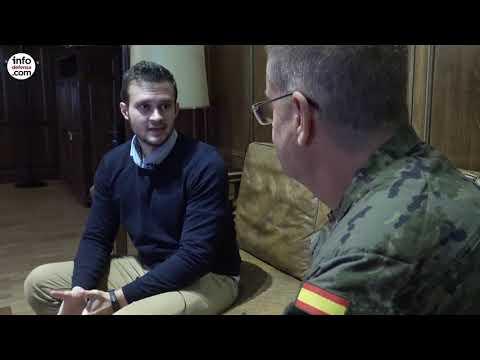 Entrevista al jefe del Mando de Artillería Antiaérea, GB Enrique Silvela