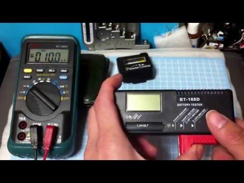 Como medir carga de pilas y Comparación de Multimetro vs Probador de pilas baterías .