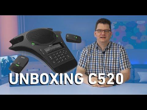Unboxing Snom C520 - WiMi Konferenztelefon (Deutsch)