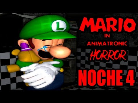 Luigi conoce a Plushy Freadbear | Noche 4 | Mario in Animatronic Horror |