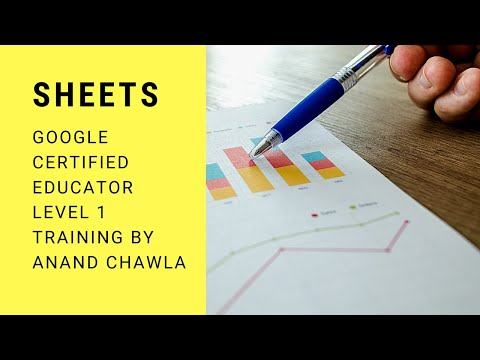 Google Sheets - Google Certified Educator Level 1 - new exam ...