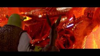 Shrek bridge scene but it's on Mustafar from Star Wars