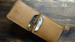 Работа с кожей. Зажим для денег. Leather money clip