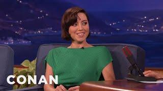 The Origin Of Aubrey Plaza's Awkwardness  - CONAN on TBS