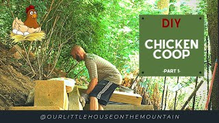 DIY BACKYARD CHICKEN COOP || Part 1|| THE FOUNDATION