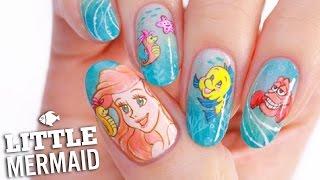 Disneys Little Mermaid Nail Art Tutorial