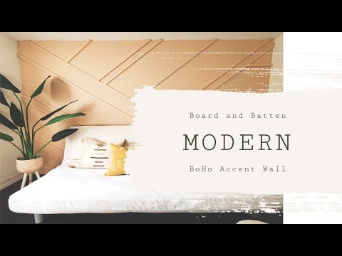 , title : 'DIY Modern Board and Batten Accent Wall |Office makeover| Part 1