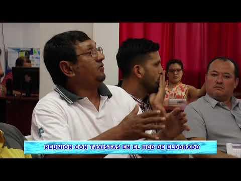 TAXISTAS DE ELDORADO SOLICITARON AL HCD ACTUALIZACIÓN TARIFARIA