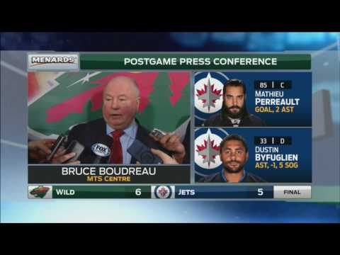 Bruce Boudreau won't make excuses for Wild's play vs Jets