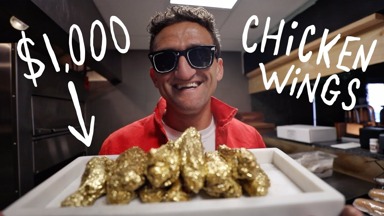 I ate $1000 GOLD CHICKEN WINGS! thumbnail