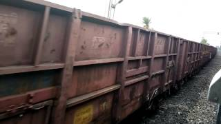 preview picture of video '15235 Howrah - Darbhanga Express overtaking full speed running goods train on BWN-ASN GC Section.'