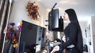 Teaser: Foroogh Atash (Mahafsoun) records vocals for The Asylum