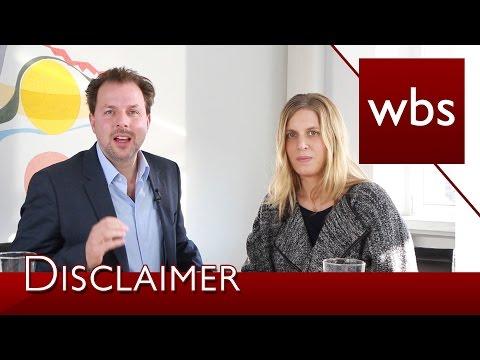 , title : 'Was bringen Disclaimer im Impressum? | Kanzlei WBS im Interview mit Ricarda Nieswandt'