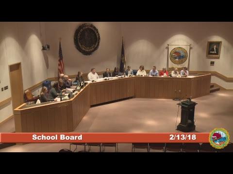 School Board 2.13.18