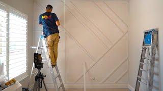 modern accent wall install