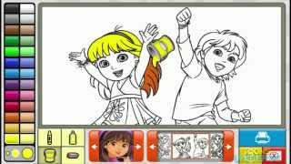 Dora And Diego Firends Episode Nick Jr Coloring Book Creative For Children HD