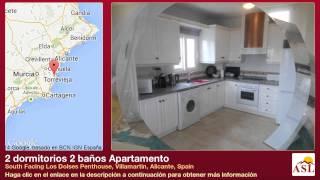 preview picture of video '2 dormitorios 2 baños Apartamento en South Facing Los Dolses Penthouse, Villamartin, Alicante'